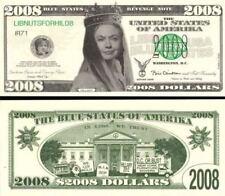 HILLARY Clinton Blue States REVENGE Note LIBNUTS4HIL08 Novelty Dollar Bill NIPS
