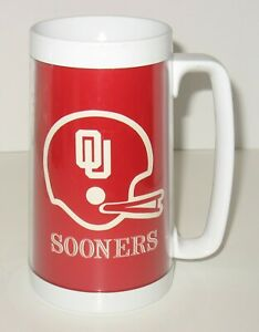 Vintage Oklahoma University Sooners Thermo Serv Beer Mug OU NCAA