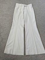 STELLA MCCARTNEY BEIGE Wool Wide Leg Pants Size 2 New Without Tags