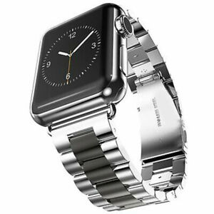 42mm Metal Bracelet Strap Replacement Clasp Band for Apple Watch