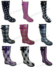 New Women's Colors Flat Festival Mid Calf Rubber Snow & Rain Boots Styles, Sizes