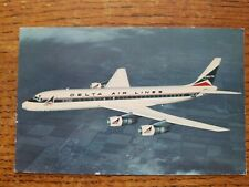 DELTA AIRLINES DC-8 FANJET 133 passenger Airplane Posted 1967