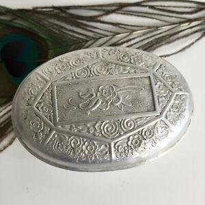 Boîte ancienne à savon Cadum en métal Art Déco Collection Parfum Pub