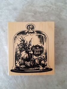 Pumpkin Patch Halloween rubber stamp by Inkadinkado NEW 2013 Ships 24 hours!