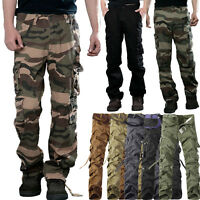 MEN MILITARY ARMY CAMOFLAUGE CAMO CARGO PANT COMBAT CARGO PANTS TROUSERS 40 42