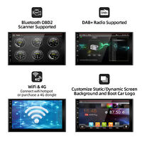 SALE-Android 10.0 Double Din Car Stereo Radio GPS Wifi 4G OBD2 HD Mirror BT SWC