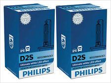 2x NEW PHILIPS WHITE VISION D2S 85122 WHV2C1 5000K XENON HID HEADLIGHTS GERMANY