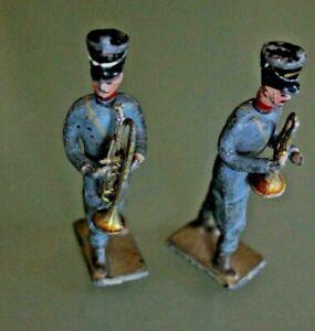 Soldier Old Lead Bundle 2 Soldiers Musician Trumpet
