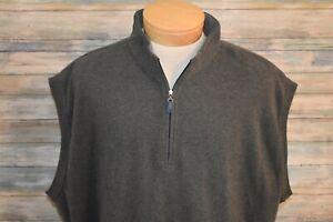 PETER MILLAR 3XT Cotton 1/4 Zip Pullover Vest Gray