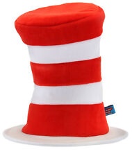 Cat In The Hat Licensed Red & White Stripe Top Hat One Size