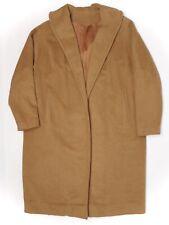 Rare 100% Vicuna Womens Coat L XL Brown Buttonless Shawl Collar Wrap Einiger VTG