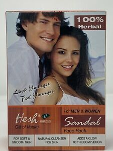 Hesh Uni Sandal Face Pack Herbal Cleanser Soft Smooth Glowing Skin 100g