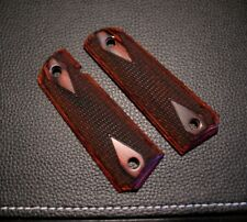 COLT 1911/45 AUTO DOUBLE DIAMOND BORDERED W/CHECKERING GRIPS FULL SIZE ROSEWOOD