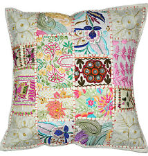 "24"" Extra Large DecorativeThrow pillow, Indian Vintage Outdoor Cottage Pillow"