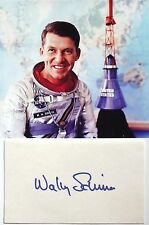 Wally Shirra Apollo 7 Commander Mercury 7 Astronaut Autograph Signed Card