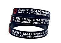 5 x Malignant Hyperthermia Medical Alert Silicone Wrist Band Bracelet UK SELLER