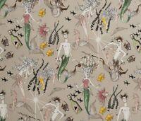 """Alexander Henry Fabrics Ghastlie Lake Ghantis Ghastlies Mermaids Stone 18""""X44"""""""