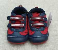 Mothercare Boys Blue & Red Soft First Crawler Shoes Size 5 Infant BNWT