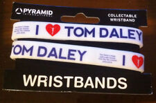 I Love Tom Daley Rubber Wrist Band x2 Bundle Olympic Diving Swimming