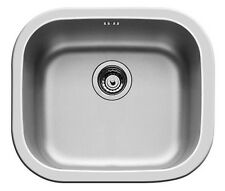PYRAMIS Kiba Carré évier/lavabo encastrable évier Acier Inox Lisse 465 x 405 mm