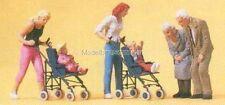 H0 PREISER 10493 MADRI, bambini con passeggino FIGURE