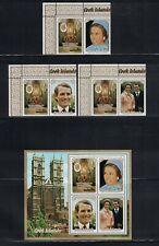 Br Cw: Cook Isles 1973: #369-371a + Labels Princess Ann Wedding Mnh: Lot#11/23