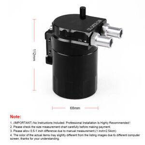 Car Aluminum Oil Catch Can Oil Filter Tank Round Reservoir Oil Drainer Universal