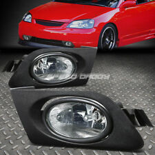 FOR 01-03 HONDA CIVIC 2/4DR CLEAR LENS BUMPER DRIVING FOG LIGHT LAMPS W/ SWITCH