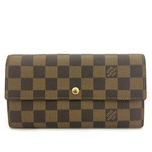 Louis Vuitton Damier Porte Feuille Sarah Long Bifold Wallet /90284