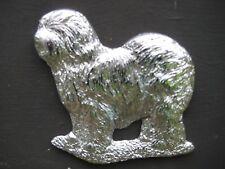 Old English Sheepdog Brass Car badge
