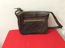 Vintage Crouch & Fitzgerald New York Brown Suede Purse Cross Body Bag. (p3)