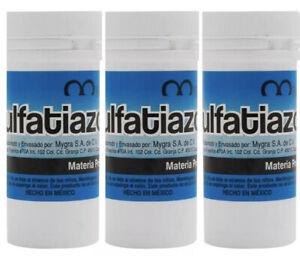 3 X POLVO DE SULFATIAZOL Powder To Aid Minor Cuts 10g Ea. Bottle