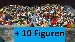 LEGO 2 Kilo + 10 Figuren Kiloware Sondersteine Platten Reifen Basic Kg gebraucht