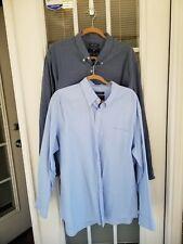LOT (2) Saddlebred STRETCH Oxford Button front shirts  XL