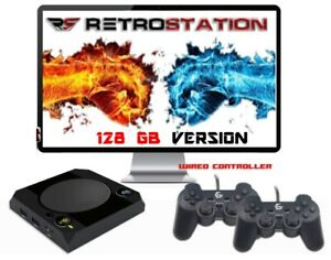 Retrostation 14k with 16500 or 34000 video games-retro console wired gamepads
