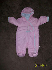 Baby girl snow suit all in one pink , 3-6 month from George