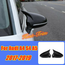For Audi A4 S4 B9 A5 2017-2019 Carbon Fiber Style Rear View Mirror Cover Trim