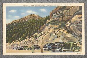 Vintage 1936 Linen Postcard: Summit Whiteface Memorial Highway Adirondacks NY