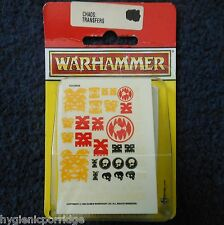 1992 chaos waterslide transfers games workshop warhammer armée autocollant feuille hordes