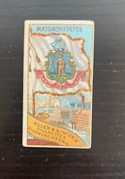 1888 Allen & Ginter N11 Flags of the States and Territories - Massachusetts