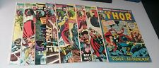 thor 9 issue bronze age marvel comics lot run set movie collection 1st wolverine