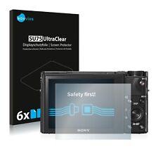 6x Displayschutzfolie für Sony Cyber-Shot DSC-RX100 VI Klar Schutzfolie
