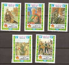 Laos - 1987 - Mi. 1050-54 (Octoberrevolutie) - Postfris - LA023