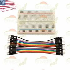 400 Point Solderless Prototype Breadboard Protoboard+20 DuPont 10cm M-M Jumpers