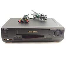 Sony Hi-Fi SLV-N50 VHS VCR Player Video Recorder W/ AV Cord TESTED WORKS