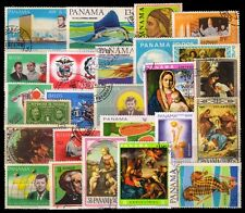 PANAMA 25 All Different Large Thematic Painting, Sport, Used Genuine Stamps