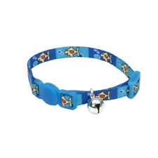 """COASTAL SAFE CAT LIL PALS FISH WITH BUBBLES BELL 6-8"""" COLLAR. TO USA"""