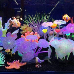 Fish Tank Aquarium Ornaments  Artificial Coral Plants Aquariums Accessories Tool