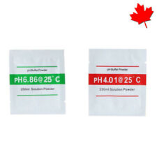 2x PH Buffer Solution Powder PH For Test Meter Calibration 4.01 / 6.86