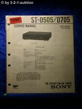 Sony Service Manual ST D505 / D705 Tuner  (#1550)
